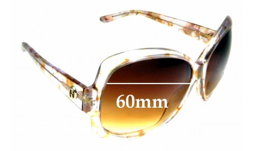 Sunglass Fix Replacement Lenses for Gucci 3581/S - 60mm wide