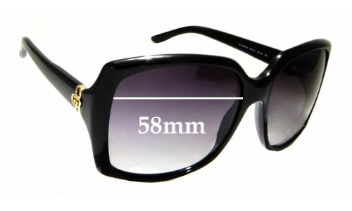 Sunglass Fix Replacement Lenses for Gucci GG 3589/S - 58mm wide