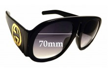 Sunglass Fix Replacement Lenses for Gucci GG 0152/S - 70mm Wide