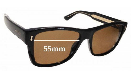 Sunglass Fix Replacement Lenses for Gucci GG1149/S - 55mm wide