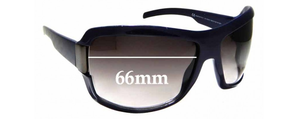 Sunglass Fix Replacement Lenses for Gucci GG1546/S - 66mm wide