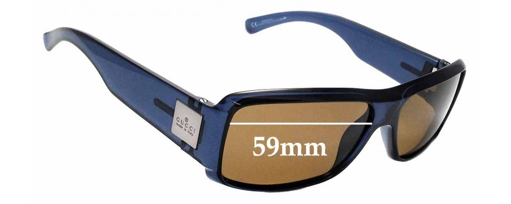 Sunglass Fix Replacement Lenses for Gucci GG1563/S - 59mm wide