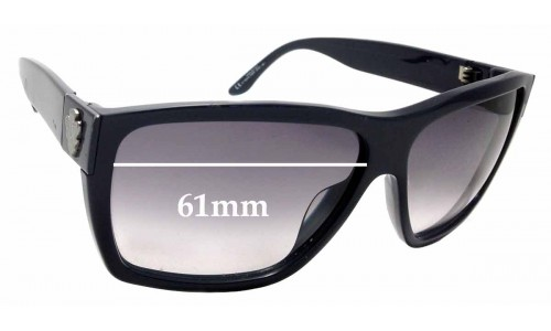 Sunglass Fix Replacement Lenses for GUCCI GG1603/S - 61mm wide