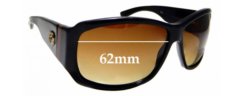 Sunglass Fix Replacement Lenses for Gucci GG2592/S 62mm wide
