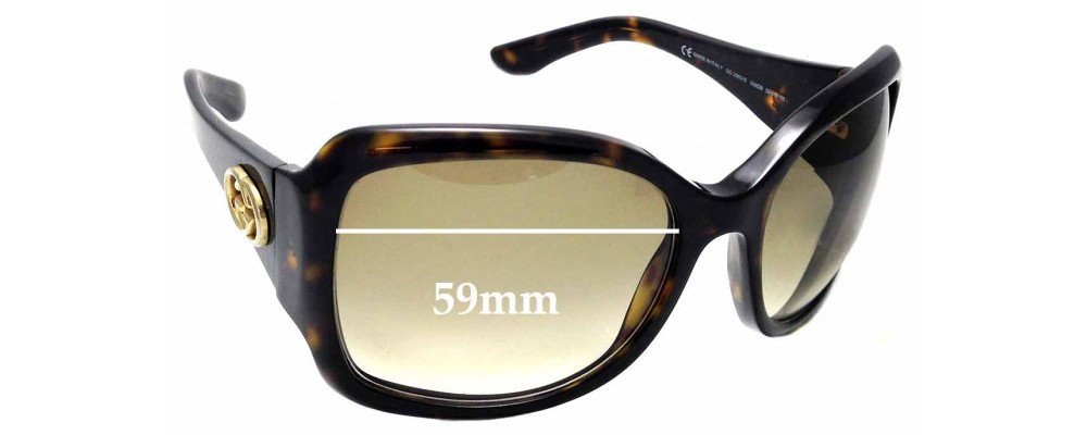 Sunglass Fix Replacement Lenses for GUCCI GG2965/S - 59mm wide