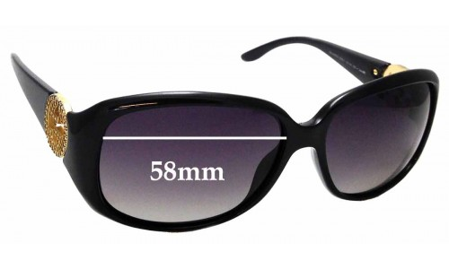 Sunglass Fix Replacement Lenses for Gucci GG 3578/S - 58mm wide