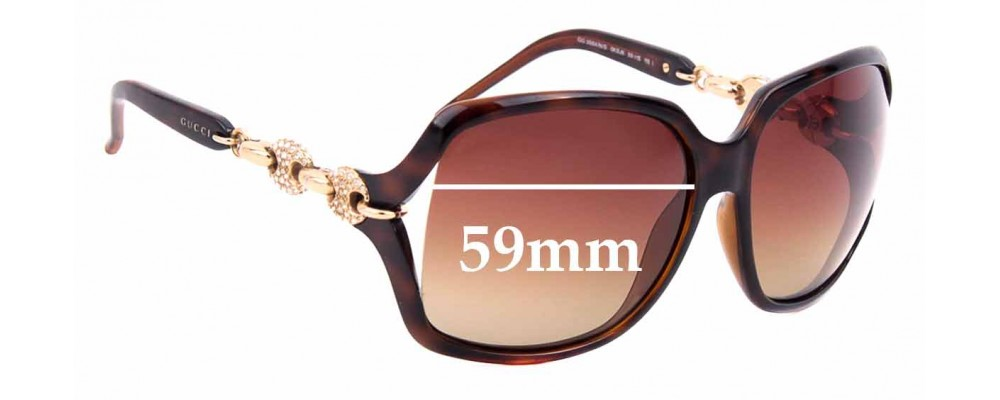 Sunglass Fix Replacement Lenses for Gucci GG3584/N/S - 59mm wide