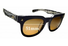 Sunglass Fix New Replacement Lenses for HAKIOS HK1005 - 51mm Wide