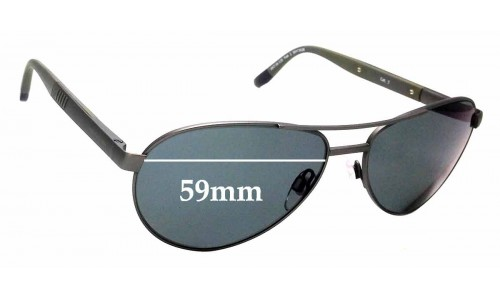 Sunglass Fix Replacement Lenses for Henri Lloyd No Heating - 59mm Wide