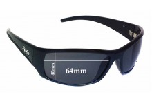 Sunglass Fix Replacement Lenses for Hobie Mayport - 64mm wide x 40mm high