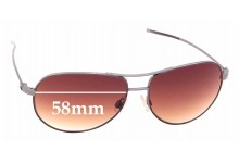 Sunglass Fix New Replacement Lenses for Hogan HO05 - 58mm Wide