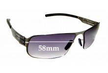 Sunglass Fix Replacement Lenses for IC! Berlin Model Mortimer - 58mm wide