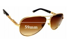 Sunglass Fix Replacement Lenses for Jimmy Choo Reese/S - 59mm wide