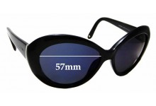Sunglass Fix Replacement Lenses for Jimmy Choo Valentina/S - 57mm wide