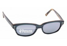Sunglass Fix Replacement Lenses for Jono Hennessey 8059 - 49mm wide