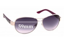 Sunglass Fix Replacement Lenses for Juicy Couture WJC61SG28S - 59mm wide