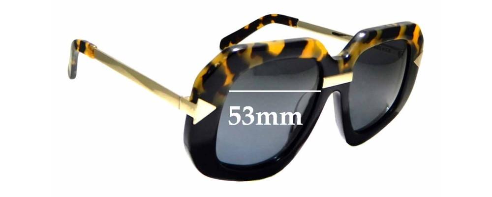 Sunglass Fix Replacement Lenses for Karen Walker Hollywood Creeper - 53mm Wide