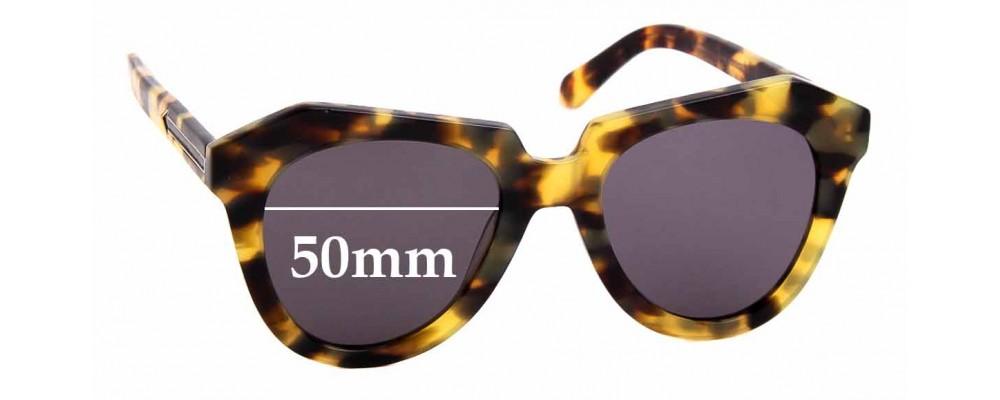 Sunglass Fix Replacement Lenses for Karen Walker Number One - 50mm Wide