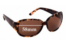 Sunglass Fix Replacement Lenses for Kate Spade Madina/P/S - 58mm wide
