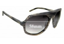 Sunglass Fix Replacement Lenses for Linda Farrow Raf Simons Grabs For Up - 58mm wide