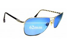 Sunglass Fix Replacement Lenses for Louis Vuitton Conspiration Pilote Z0066U - 62mm wide