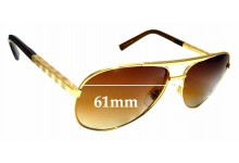 Sunglass Fix Replacement Lenses for Louis Vuitton Z0339U - 61mm wide