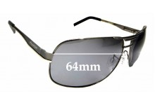 Sunglass Fix New Replacement Lenses for Mangrove Jacks Rowdy - 64mm Wide
