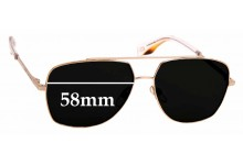 Sunglass Fix Replacement Lenses for MARC BY Marc Jacobs Sun Rx 07 - 58mm Wide