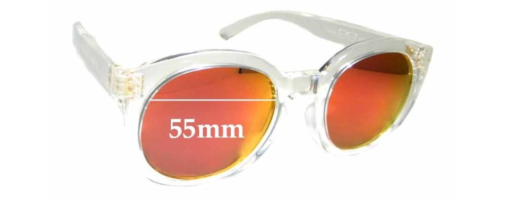 Sunglass Fix Replacement Lenses for Marc Lloyd Venus - 55mm wide