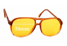 Sunglass Fix Replacement Lenses for Martin Wells Barker - 54mm wide