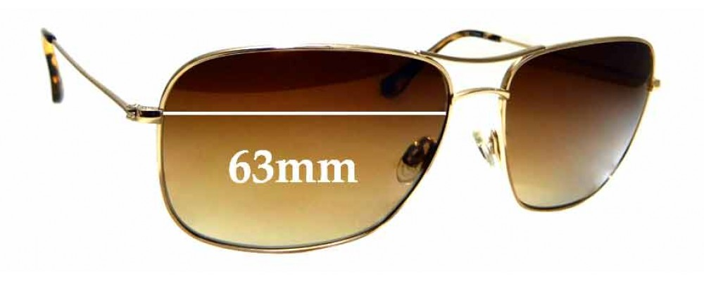 Sunglass Fix Replacement Lenses for Maui Jim Breezeway MJ773 - 63mm wide
