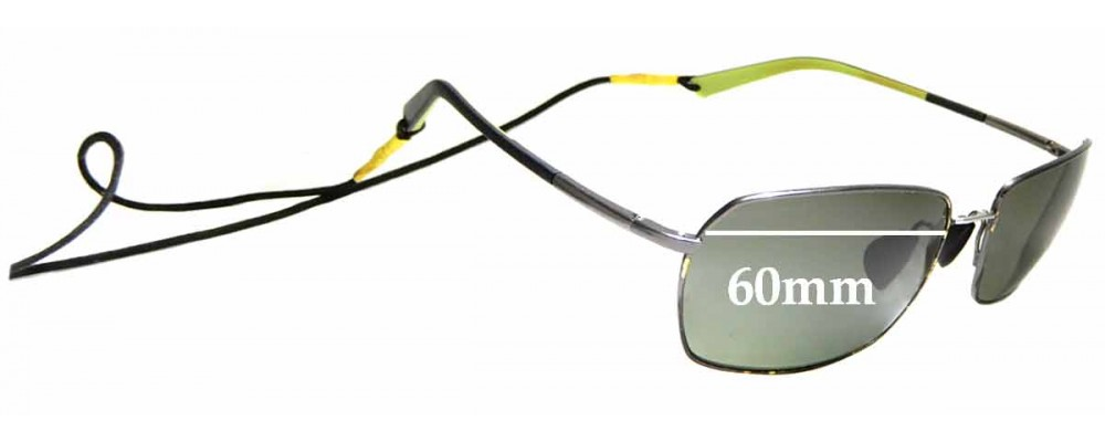 Sunglass Fix Replacement Lenses for Maui Jim High Tide MJ323 - 60mm Wide