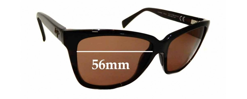 Sunglass Fix Replacement Lenses for Maui Jim Jacaranda MJ763 - 56mm wide