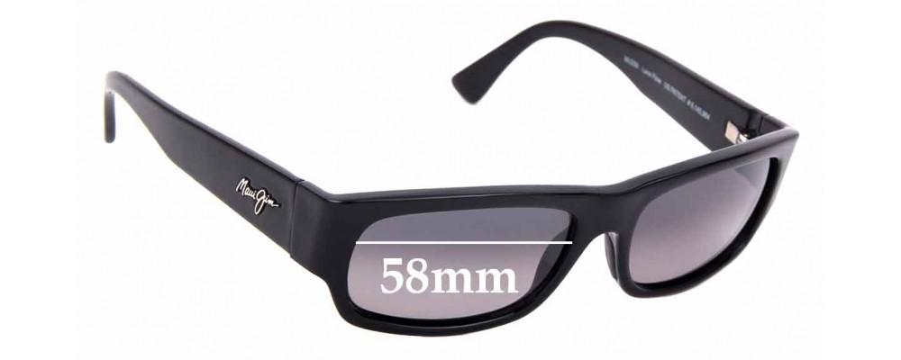Sunglass Fix Replacement Lenses for Maui Jim Lava Flow MJ250 - 58mm Wide