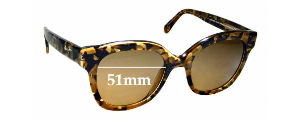 Sunglass Fix Replacement Lenses for Maui Jim Honey Girl MJ751 - 51mm wide