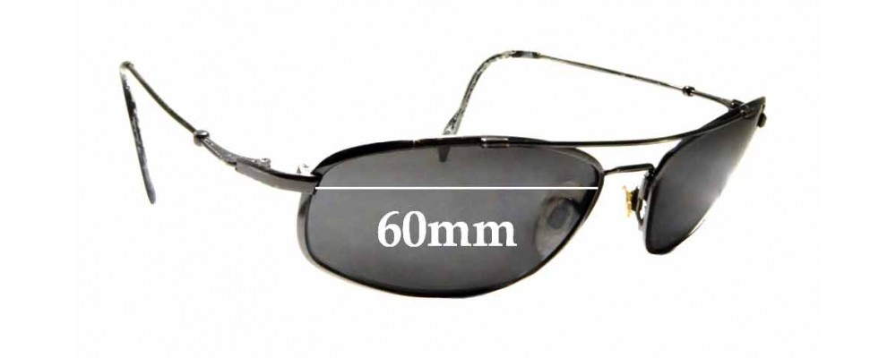 Sunglass Fix Replacement Lenses for Maui Jim MJ303 Big Island - 60mm wide