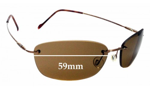 Sunglass Fix Replacement Lenses for Maui Jim Kona MJ451 - 59mm Wide