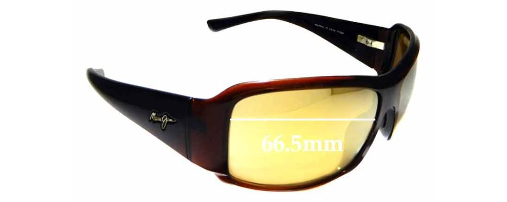 Sunglass Fix Replacement Lenses for Maui Jim MJ255 Nine Palms - 66.5mm Wide