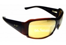 Sunglass Fix Replacement Lenses for Maui Jim MJ255 Nine Palms - 66.5mm Wide