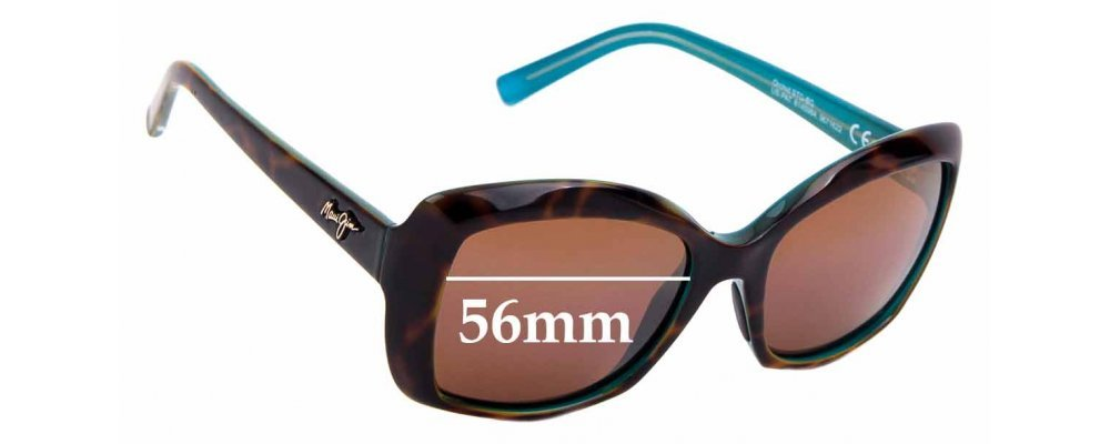 Sunglass Fix Replacement Lenses for Maui Jim Orchid MJ735 - 56mm Wide