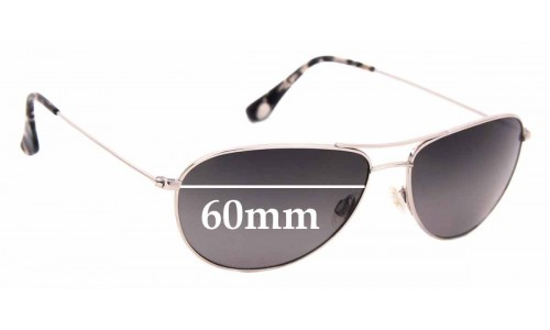Sunglass Fix Replacement Lenses for Maui Jim Sea House MJ772 - 60mm wide