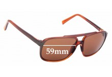 Sunglass Fix Replacement Lenses for Maui Jim Silversword MJ701 - 59mm Wide