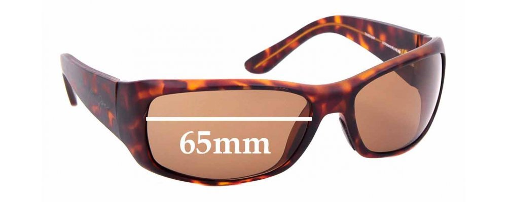 Sunglass Fix Replacement Lenses for Maui Jim Third Bay MJ268 - 65mm Wide