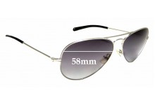 Sunglass Fix Replacement Lenses for Michael Kors Jet Set M2047SP - 58mm wide