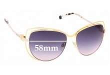 Sunglass Fix Replacement Lenses for Michael Kors MK1013 Audrina - 58mm wide