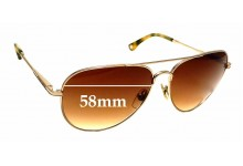 Sunglass Fix Replacement Lenses for Michael Kors MKS144 - 58mm wide