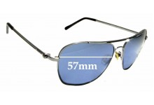 Sunglass Fix New Replacement Lenses for Mimco Hudson - 57mm Wide