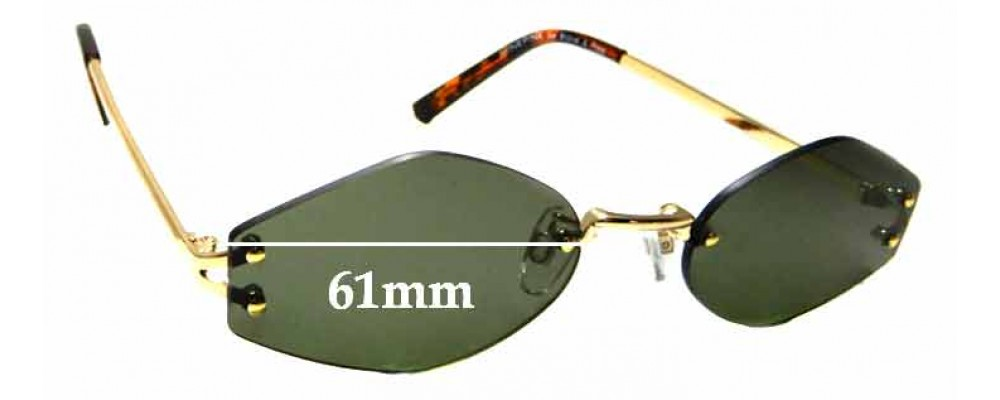 Sunglass Fix Replacement Lenses for Minkpink Neo (WE CANNOT MAKE LENSES FOR THESE) - 61mm Wide