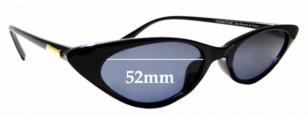 Sunglass Fix Replacement Lenses for Minkpink Rouge - 52mm wide