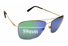 Sunglass Fix New Replacement Lenses for Montblanc MB 594S - 59mm Wide